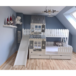 Treehouse bed ANSGAR with slide