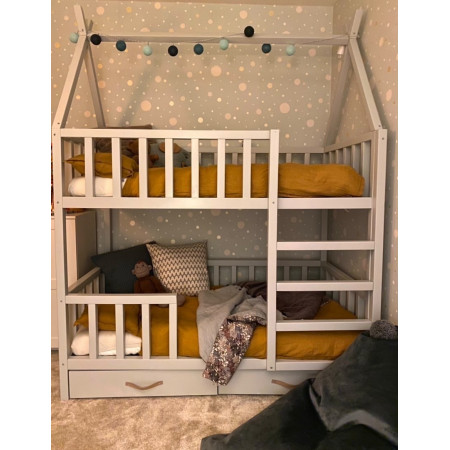 Bunk bed / teepee bed SUN PLUS with rungs