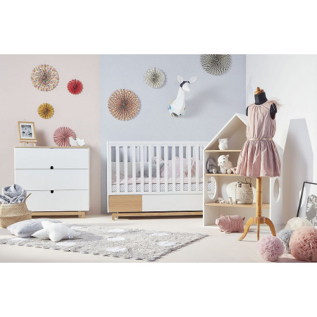 NOMI cot / toddler bed 70 X 140 cm with drawer